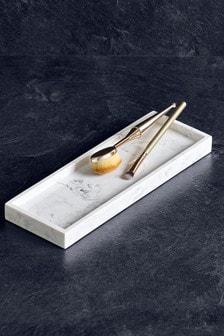 Marble Effect Bathroom Tray