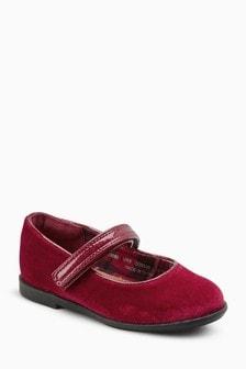 Velvet Mary Jane Shoes (Younger)