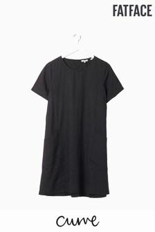 FatFace Black Simone Linen Blend Dress