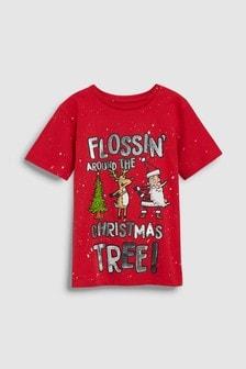 Christmas Flossin' T-Shirt (3-16yrs)