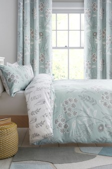 Sky Floral Duvet Cover and Pillowcase Set