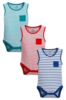 Stripe Vests Three Pack (0mths-2yrs)