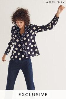 Mix/Natasha Zinko Spot Print Silk Blouse