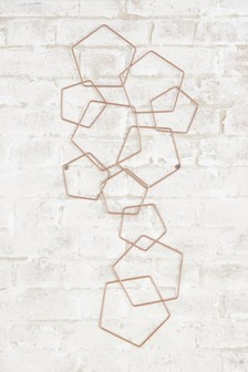 Rose Gold Geometric Plaque