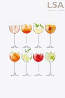 Set of 8 LSA International Gin Balloon Glasses