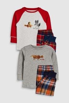 Animal Woven Pyjamas Two Pack (9mths-8yrs)