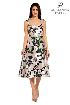 Adrianna Papell Pink Floral Printed Dress