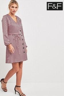 F&F Pink Geo Shirt Dress