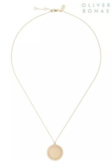 Oliver Bonas I Love To Be Loved Gold Plated Necklace
