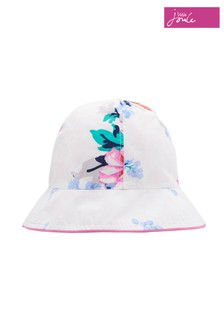 Joules White Sunseeker Reversible Bucket Hat