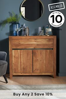 Amsterdam Acacia Wood Small Sideboard with Drawer
