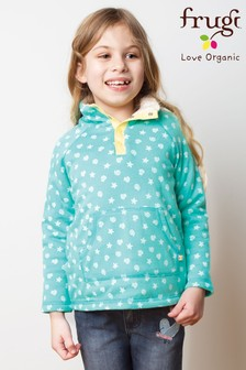 Frugi Organic Aqua Blue Warm Fleece Lined Sweatshirt