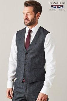 Signature British Wool Suit: Waistcoat