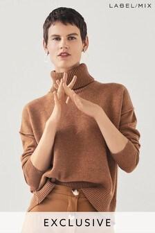 MIx/Rejina Pyo Open Back Roll Neck Knit