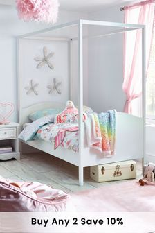 Amelia White Four Poster Bed