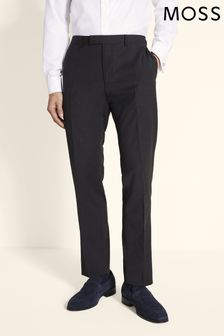 Moss 1851 Black Performance Tailored Fit Trouser