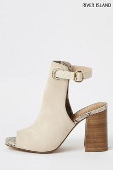 River Island White Shoe Boot