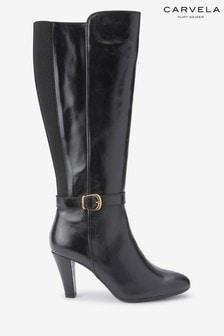 Carvela Comfort Black Villa Buckle Tall Boots
