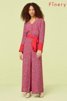 Finery London Pink Adalee Print Jumpsuit