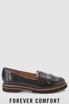 Forever Comfort Fringe Leather Loafers