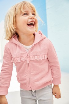 Broderie Zip Through Hoody (3mths-7yrs)