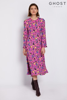 Ghost London Jessica Vintage Floral Pink Sophia Dress