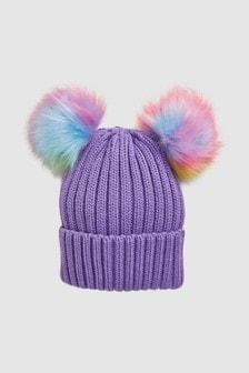 Double Pom Beanie Hat (Older)