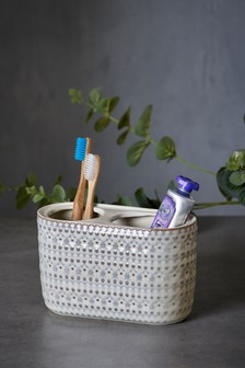 Embossed Floral Toothbrush Tidy
