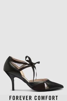 Two Part Mesh Detail Court Shoes