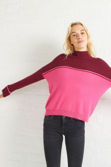 Oliver Bonas Pink Keep Colourblock Jumper
