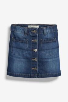 Denim Button Through Skirt (3-16yrs)