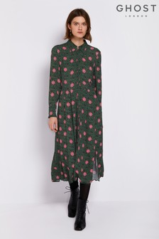 Ghost London Green Bell Dress