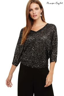 Phase Eight Black Sequin Knit