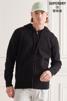 Superdry Black Essential Cotton Zip Hoody