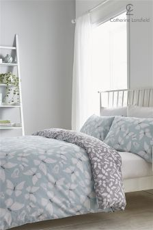 Catherine Lansfield Butterfly Duvet Cover and Pillowcase Set