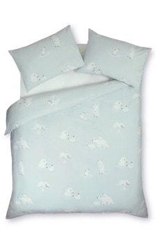 Brushed Cotton Polar Bears Bed Set