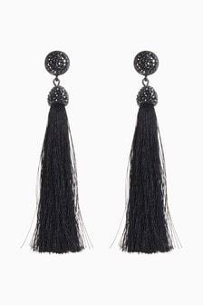 Crystal Effect Tassel Earrings