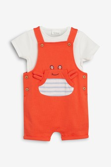Crab Dungarees And Bodysuit Set (0mths-2yrs)