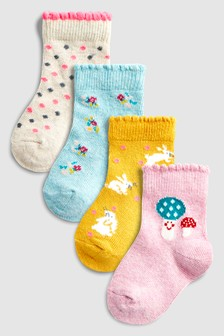 Printed Socks Four Pack (Younger)