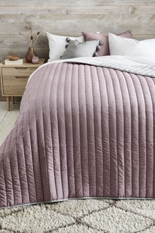Reversible Cotton Rich Throw