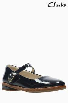 Clarks Navy Patent Leather Drew Sky Toddler Mary Jane