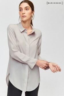 Warehouse Grey Longline Shirt