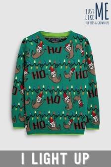 Older Kids Christmas Sloth Jumper (3-16yrs)