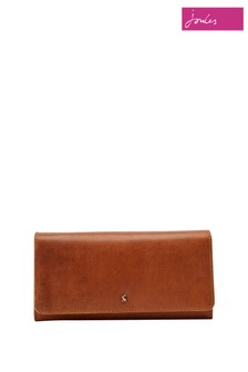 Joules Tally Flap Over Leather Purse