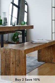 Brooklyn Reclaimed Pine Dining Bench
