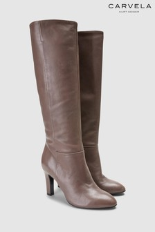 Carvela Taupe Where Leather Tall Boot