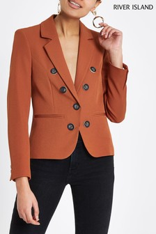 River Island Copper Button Blazer