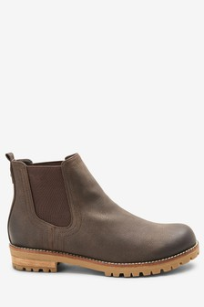 Casual Chunky Chelsea Boots
