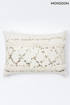 Monsoon Moroccan Sequin Cushion