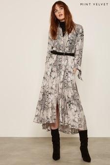 Mint Velvet Sasha Snake Print Shirt Dress